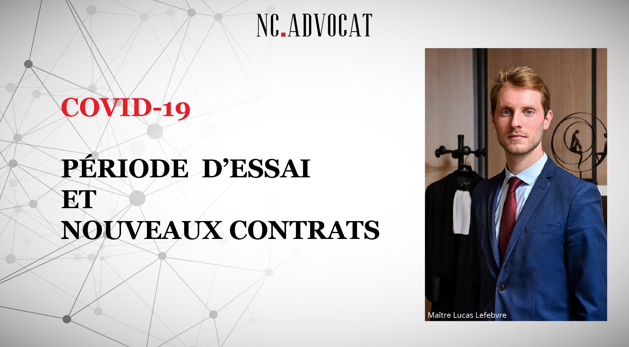 Image article - Covid 19 : période d'essai et nouveaux contrats