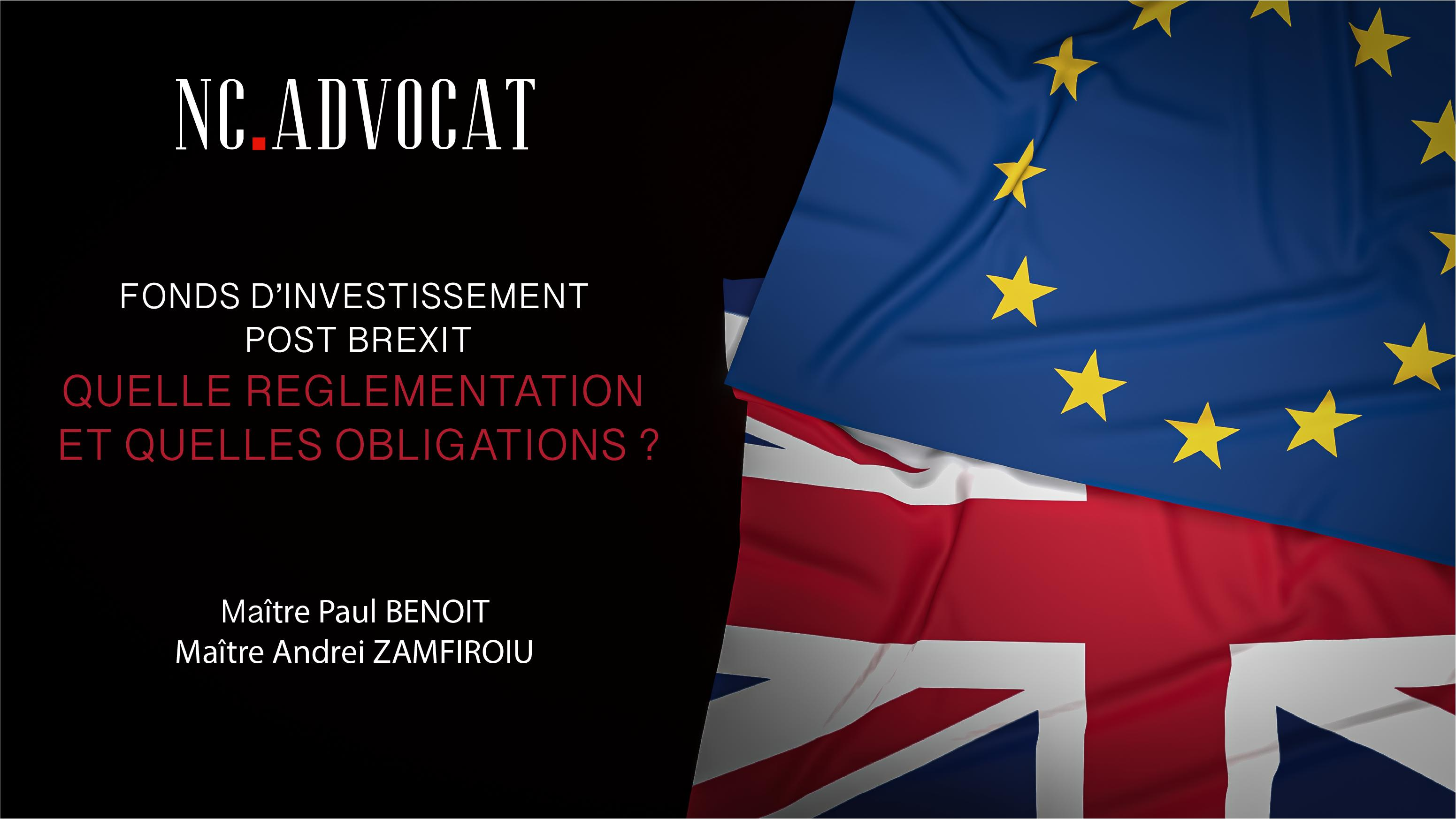 Image article - FONDS D'INVESTISSEMENT POST BREXIT : QUELLE REGLEMENTATION ET QUELLES OBLIGATIONS ?